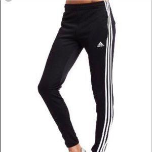 Adidas 3 stripes track pants woman